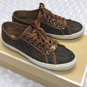 Michael Kors Boerum Sneakers Brown Size 7